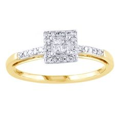 Purchase Ct Princess Cut Real Diamond Square Frame Engagement Ring In Yellow Gold # With Free Stud Earring from JewelryHub on OpenSky. Share and compare all Jewelry. Natural Diamonds, Round Diamonds, Best Settings, Stone Cuts, Princess Cut Diamonds, Solitaire Engagement, Rose Gold, Stud Earrings, Frame
