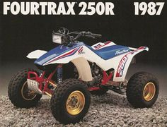 1987 Honda Fourtrax 250R, this was the rival for the Suzuki Quadracer.  These were just fast!  Photo Courtesy of Vintage Factory ATC Racer