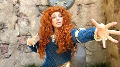 "Princess Merida from Brave - ""What Does Merida Like to Do?"" at Disney Wo...                                                                    with Jenessa Schulz"