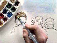 Draw Tip Tuesday Journal drawing using watercolor @Koosje Koene @Kristin Holt #drawing #kholt