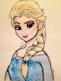 Elsa from Frozen by inkandstardust on DeviantArt