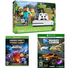 Xbox One S 500GB Console  Minecraft Bundle  Minecraft Story Mode  The Complete Adventure  Rocket League Collectors Edition * Read more reviews of the product by visiting the link on the image.Note:It is affiliate link to Amazon.
