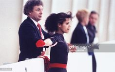 American figure skater, Debi Thomas, in training for World Figure Skating Championships with coach Alex McGowan, Budapest, Hungary. (Photo by Chris Niedenthal/The LIFE Images Collection/Getty Images)