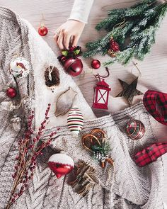 """""""Traditional reds are classic for holiday decor, and are perfect with wood and flocked details for a cozy, cottage feel. Holiday Fun, Christmas Holidays, Christmas Wreaths, Christmas Decorations, Christmas Ornaments, Holiday Decorating, Christmas Stuff, Holiday Ideas, Decorating Ideas"""