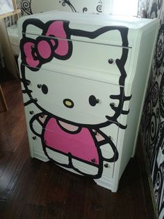 Customized Hello Kitty Dresser Knobs On Etsy 600