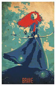 Disney Brave movie poster 11x17 by PosterForum on Etsy