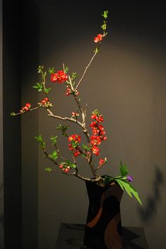 the 62nd Ikebana Exhibition in Kyoto on March 31, 2011.