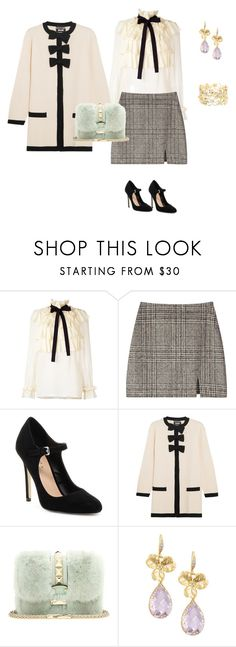 """Ribbon"" by tsurumi-mai on Polyvore featuring ファッション, Gucci, Mixx Shuz, Boutique Moschino, Valentino, Indulgems と Charlotte Russe"