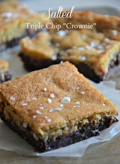 "Salted Triple Chip ""Crownies"" + Giveaway - Mountain Mama Cooks #McCormickbakesale"