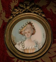 Antique 19th Century Miniature Portrait on Ivory