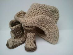 Cowboy Boots and Cowboy Hat Cowboy baby shower Brown by Dremnstar, $33.50