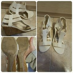 PRICE DROP Size 5 white wedge sandals Have been worn Shoes Wedges