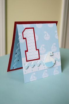 Nautical theme Birthday Card
