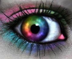 28 New Ideas Eye Photography Art Pretty Eyes, Cool Eyes, Dry Eyes Causes, Rainbow Eyes, Rainbow Makeup, Most Beautiful Eyes, Amazing Eyes, Crazy Eyes, Eyes Problems