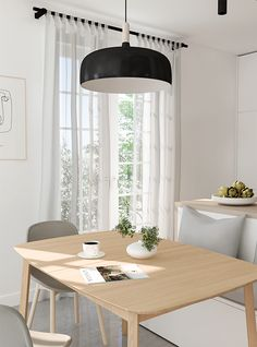 E-design project: Small kitchen design by Eleni Psyllaki of My Paradissi. Small Apartment Design, Studio Apartment Decorating, Small Room Design, Small Country Homes, Ikea Kitchen Remodel, Apartment Kitchen, Dining Nook, Kitchen Layout, Interior Design Kitchen