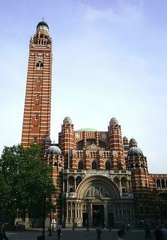 Westminster Cathedral. Somewhat unEnglish looking Catholic cathedral in Central London. Worth seeing but not worth going to see.