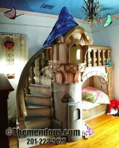 Themendous makes hand crafted custom children's furniture that transform a children's room into a fantasy of their own. Girl Nursery Themes, Bedroom Themes, Girls Bedroom, Bedroom Ideas, Disney Furniture, Kids Furniture, Castle Bed, Disney Bedrooms, Cool Kids Rooms