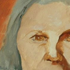 Artists Of Texas Contemporary Paintings and Art: FACE No.105 by Linda Popple