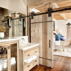 Sliding barn door hardware.....I have great plans for this site!!!!