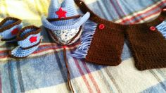 Little crochet cowboy set