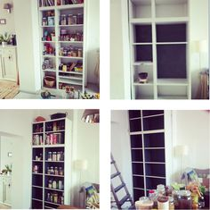 why we need to paint the back of the shelves dark gray...