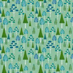 Little trees fabric design by Kez Walsh / kezia, on Spoonflower