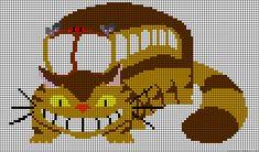 Catbus Totoro perler bead pattern