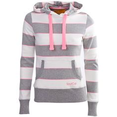 Soul Cal Neon Horizontal Striped Hoody ($32) ❤ liked on Polyvore