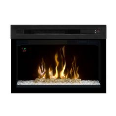 Dimplex 25-In Multi-Fire XD Plug-In Curved Contemporary Electric Fireplace Insert - PF2325CG