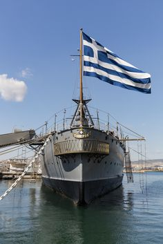 Averof - Georgios Averof Museum Ship, Flisvos Marina, Faliro, Athens, Attica, Greece Myconos, Athens Greece, Attica Greece, Greek Beauty, Greek History, Life Is A Journey, Acropolis, In Ancient Times, Ancient Greece