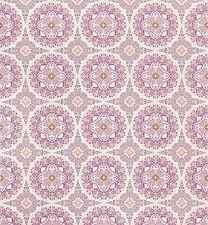 Eijffinger Flamenco Geometric Circle Patterned Feature Wallpaper Pink 320733