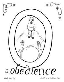 Bible Coloring Pages On Obedience