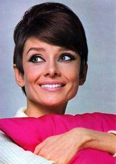 "The actressAudrey Hepburn photographed by Douglas Kirkland atStudio de Boulognefor the publicity of ""How to Steal a Million"". Paris (France), November 1965.  -Audrey was wearing a sweater ofGivenchy Boutique Paris."
