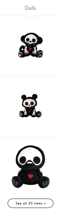 """""""Dolls"""" by fangirling-is-health ❤ liked on Polyvore featuring stuffed animals, toys, plushies, other, accessories, plush, fillers, disney, home and emo"""