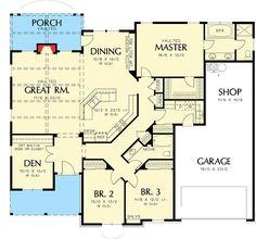 Single Story Home Plan - 69022AM floor plan - Main Level