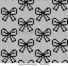 Blackwork Cross Stitch, Xmas Cross Stitch, Cross Stitch Art, Beaded Cross Stitch, Cross Stitch Patterns, Knitting Charts, Loom Knitting, Knitting Stitches, Knitting Patterns
