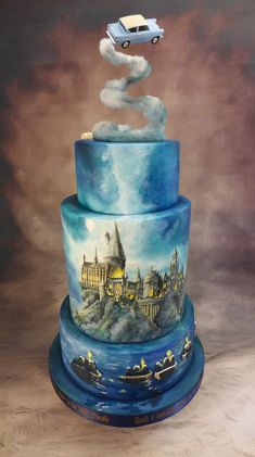 Harry Potter Torte, First Harry Potter, Harry Potter Food, Harry Potter Magic, Realistic Cakes, Cake Designs Images, Wedding Cake Alternatives, Cake Decorating Techniques, Mischief Managed