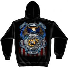The True Heroes Hooded Sweatshirt | [ eMarinePX.com ] #USMC #Marine #Clothing