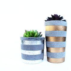 Urban Decor concrete succulent planters, tealights & bowls available from www.nothingbutvintage.com.au