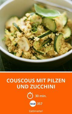 Couscous mit Pilzen und Zucchini - smarter - Kalorien: 357 Kcal - Zeit: 30 Min. | eatsmarter.de