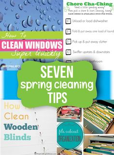 Spring Cleaning Tips - Does this mean spring will come if I do these?