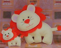 Leão em Feltro 20cm x 30cm