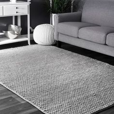 Shop nuLOOM Handmade Casual Braided Wool Area Rug - On Sale - Overstock - 10708020 - 6 x - Light grey Area Rugs For Sale, Rug Sale, Wool Area Rugs, Blue Area Rugs, Blue Rugs, Wool Rugs, Online Home Decor Stores, Online Shopping, Casual Braids