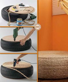 Outstanding Homemade Ottomans | Instead put some backing foam and cover with fabric
