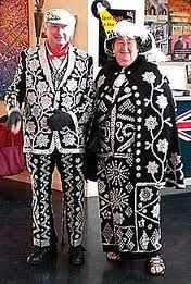 The tradition of Pearly Kings and Queens originated in 19th Century Victorian London. They evolved from Coster Kings and Queens, who were elected as leaders of London's street trading Costermongers, costard being an apple, monger being a seller.