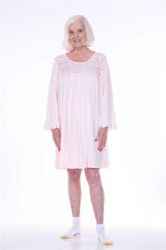 bd7edc97df Dignity pajamas offers Womens Long sleeve hospice pajamas and sleepwear in  adaptive sleepwear styles.These100