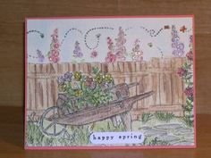 TLC107 Hollyhocks 4 Kittie by stampaholic17 - Cards and Paper Crafts at Splitcoaststampers