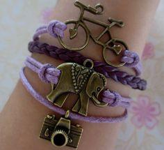 Welcome to my shopbike Braceletelephant bracelet by GreatBracelet, $5.99
