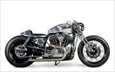 hot rod, muscle cars, rat rods and girls Sportster Cafe Racer, Harley Scrambler, Harley Davidson Scrambler, Sportster 883, Bobber, Brat Cafe, Michelle Lewin, Kustom, Custom Bikes