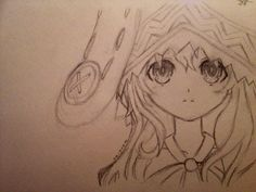This is a drawing of Yoshino from Date A Live. I drew this when I was 12 years old.